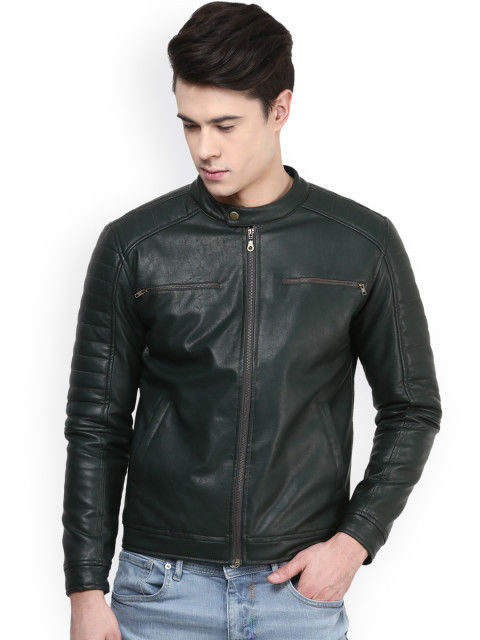New Men's Genuine Lambskin Leather Jacket  Slim fit Biker Motorcycle jacket-G32