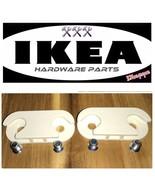 Two 2 IKEA Hinge Shoe Cabinet Stall Hemnes Skar with 4 screws 110364 Parts - $13.99