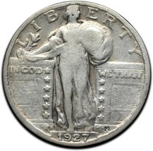1927S Standing Liberty Silver Quarter Coin Lot A 305