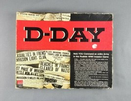 D-Day by Avalon Hill Vintage 1977 WWII Invasion Strategy War Tactical Bo... - $34.64