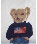 Rare POLO RALPH LAUREN hiking bear flag sweater hand knit cream vtg RL67... - $250.00