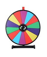 "WinSpin 24"" Tabletop Spinning Prize Wheel 14 Slots with Color Dry Erase ... - $44.53"