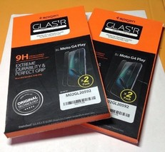 Lot Of 2 Spigen Screen Protector 2-Pack for Moto G4 Play - $12.86