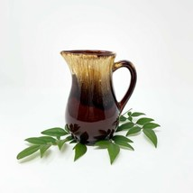 "Vintage RRP Co. Roseville Pottery 6"" Milk/Creamer Brown Drip Glaze Pitcher - $21.28"