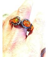 Vintage Original Äthiopische Feuer Opal Diamant - $335.62