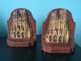 Rheims cathedral book ends - $55.00