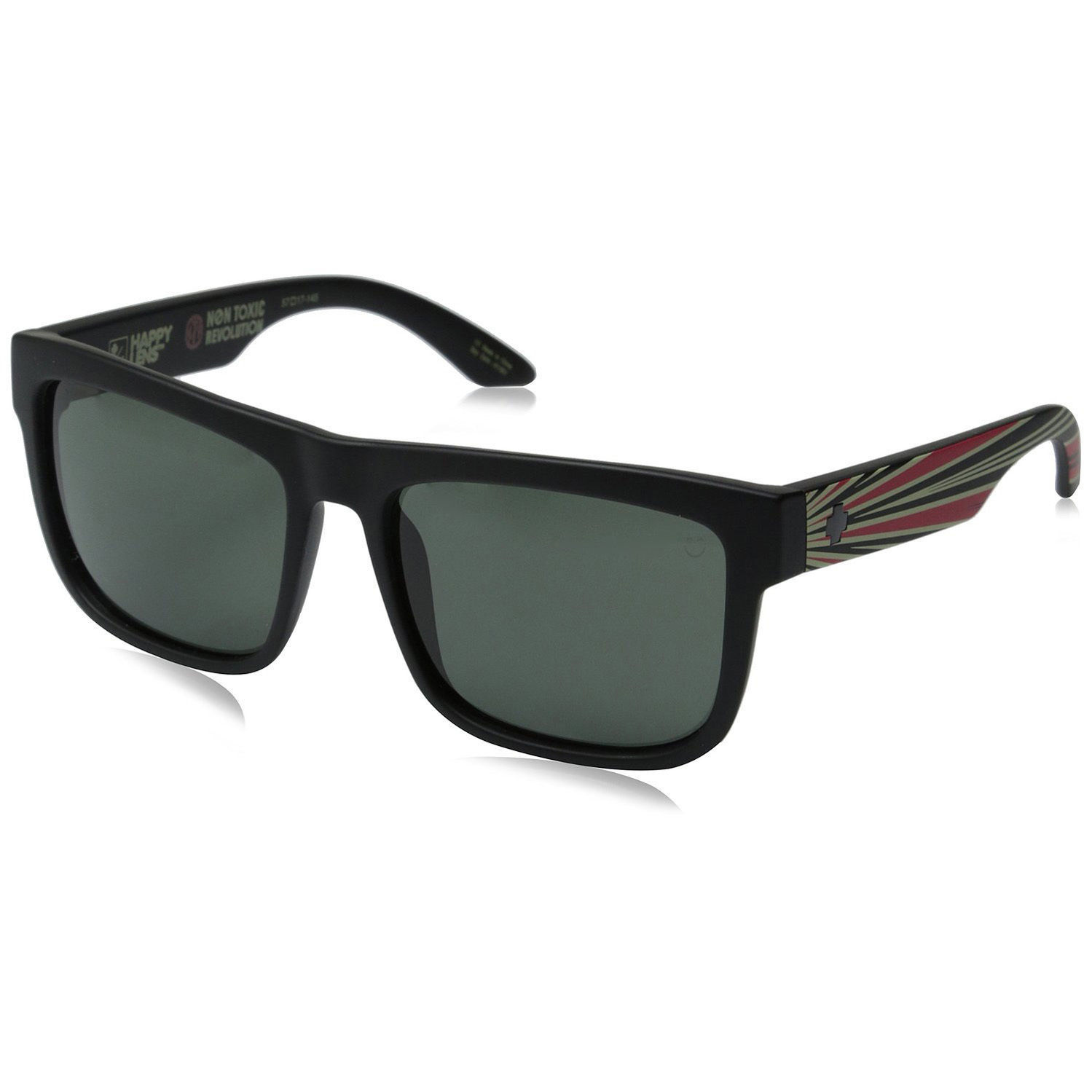 3120e65306 S l1600. S l1600. Previous. Spy Optic Discord Non-Toxic Matte Black Frame  Happy Grey Green Lens Sunglasses