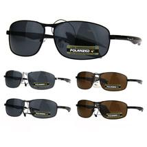 Polarized Xloop Rectangular Metal Rim Warp Sport Mens Sunglasses - $12.82+
