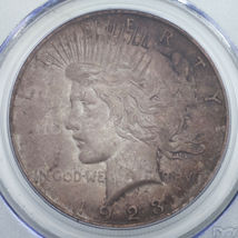 1923 Argent $1 Dollar Paix Gradé par PCGS comme MS-62 ! Joliment Tons Pièce ! image 3