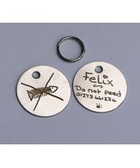 BULK BUY BARGAIN PACK OF 30 HAND ENGRAVED 20MM PET TAGS with individual ... - $49.07