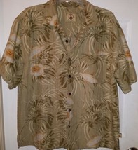 Joe Marlin Original Outfitters Hawaiian Shirt Hibiscus Design Men's Large - $19.80