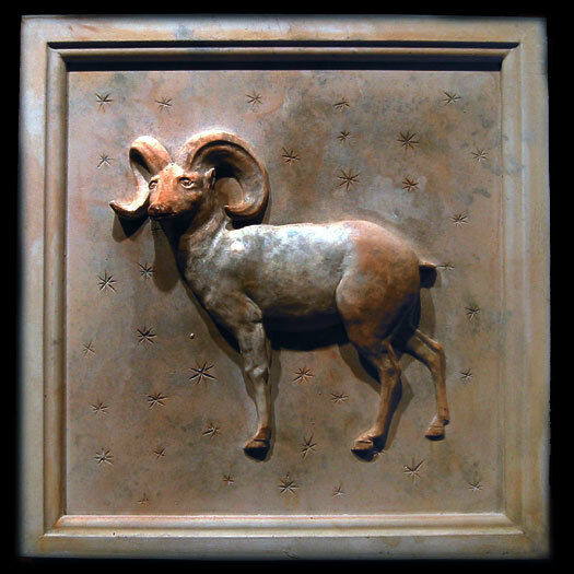 Primary image for Aries Zodiac Wall Relief Sculpture Plaque (Mar 21 - Apr 19)