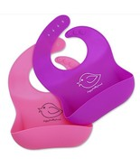 Happy Healthy Parent Silicone Baby Bibs Easily Wipe Clean! Comfortable S... - $20.50