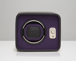 Wolf Automatic Windsor Single Watch Winder Storage Box Black Purple - $219.00