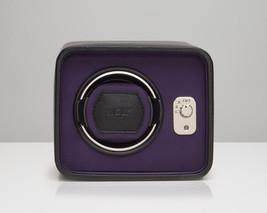 Wolf Automatic Windsor Single Watch Winder Storage Box Black Purple - $219.00