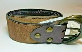 Candie's Cognac Brown Genuine Suede Leather Belt Size M - $21.73