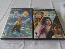 Final Fantasy X & X-2 both black label CIB great shape tested PS2 Playst... - $17.94