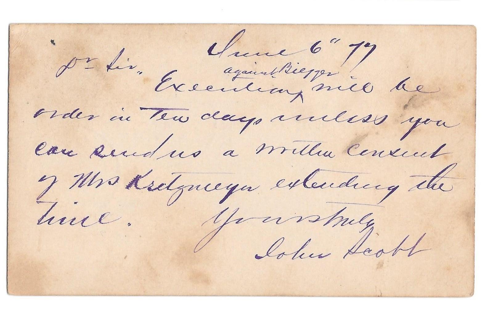 1877 McGregor Forward to Guttenburg Iowa Dual Cancels on Scott UX5 Postal Card image 2