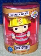 "Ryan's World Special Delivery Fireman Ryan Vinyl 4"" Figure New - $8.79"