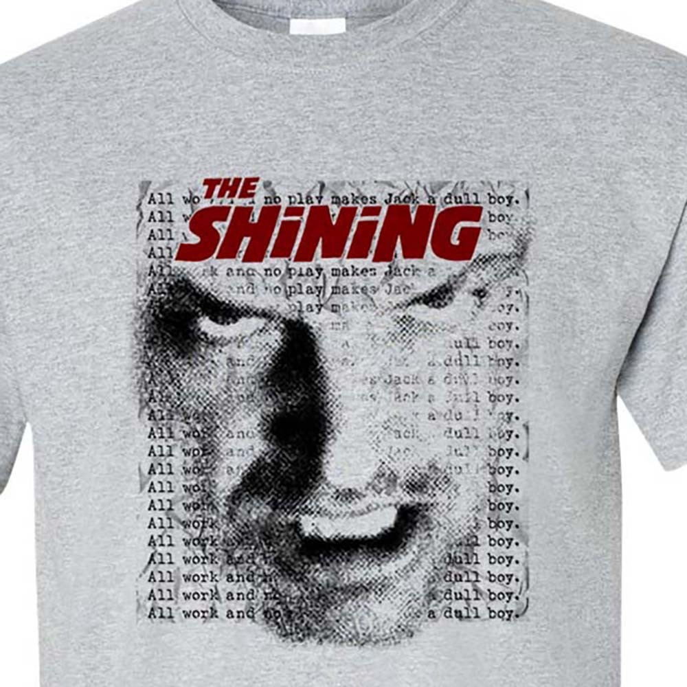 Hining t shirt retro horror movie tee stephen king it online graphic tee store for sale gray tee
