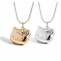 Girl Hello Kitty Photo Frame Pendant Floating Locket Necklace Crystal Je... - $6.00