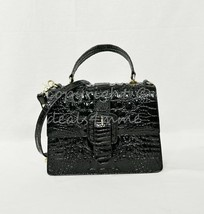 NWT Brahmin Mini Francine Satchel/Shoulder Bag in Black Melbourne - $239.00