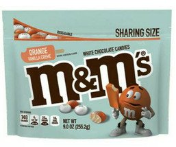 M&M's Orange Vanilla Creme Cream Flavor 9oz Bag - Limited Edition, Exp 1... - $11.99