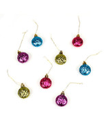 HOLIDAY CRAFT Ornaments - Glitter Disc - 35mm - 4 pieces #2463-130 - $0.99