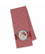 """Bacon & Eggs Embellished Kitchen Dish Towel New 18"""" x 28"""" DII 100% Cotton  - $14.84"""