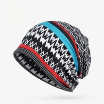 "oZyc Women""s Winter Hats Female Stripe Pattern Turban Hat Ethnic Style S... - $10.79"
