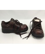 Skechers Shoe Boots Wide Bottom Soles Round Toes Brown Women 7.5M Damage... - $29.39