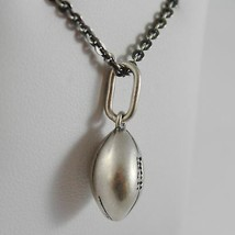 925 Sterling Silver Necklace Burnished with Pendant in Presentation Tin Football image 2