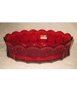 "Wonderful Vintage 9"" X 5 3/4"" FOSTORIA Ruby Red Coin Glass Oval Dish - $144.94"