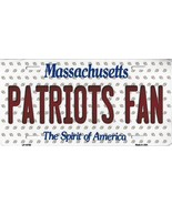 Patriots Massachusetts State Background Metal License Plate Tag (Patriot... - $11.35