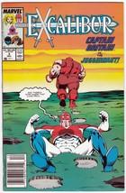 Excalibur #3 December 1988 Captain Britain Vs. The Juggernaut! - $4.95
