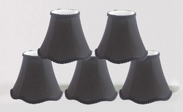 "Urbanest Scallop Mini Chandelier Lamp Shades Softback,3""x6""x5"", Black, Set of 5 - $41.56"