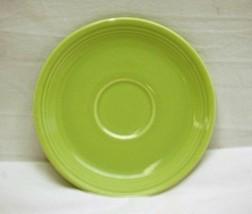 "Old Vintage Genuine Fiesta 6"" Saucer Lime Green HLC Fiestaware Chartreuse USA - $12.86"