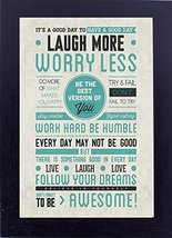 12x18 inches poster with frame Laugh More Art home dcor art work gift for drawin - $29.70