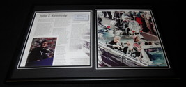 John F Kennedy 1963 Dallas Motorcade Framed 12x18 Photo Display - $69.29