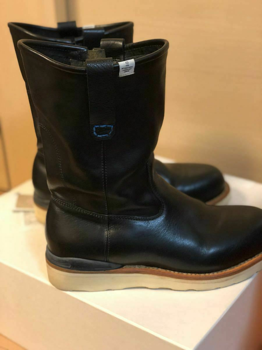 FIL limited 1st model visvim WABANAKI BOOTS-FOLK US8 BLACK Pecos boots image 4