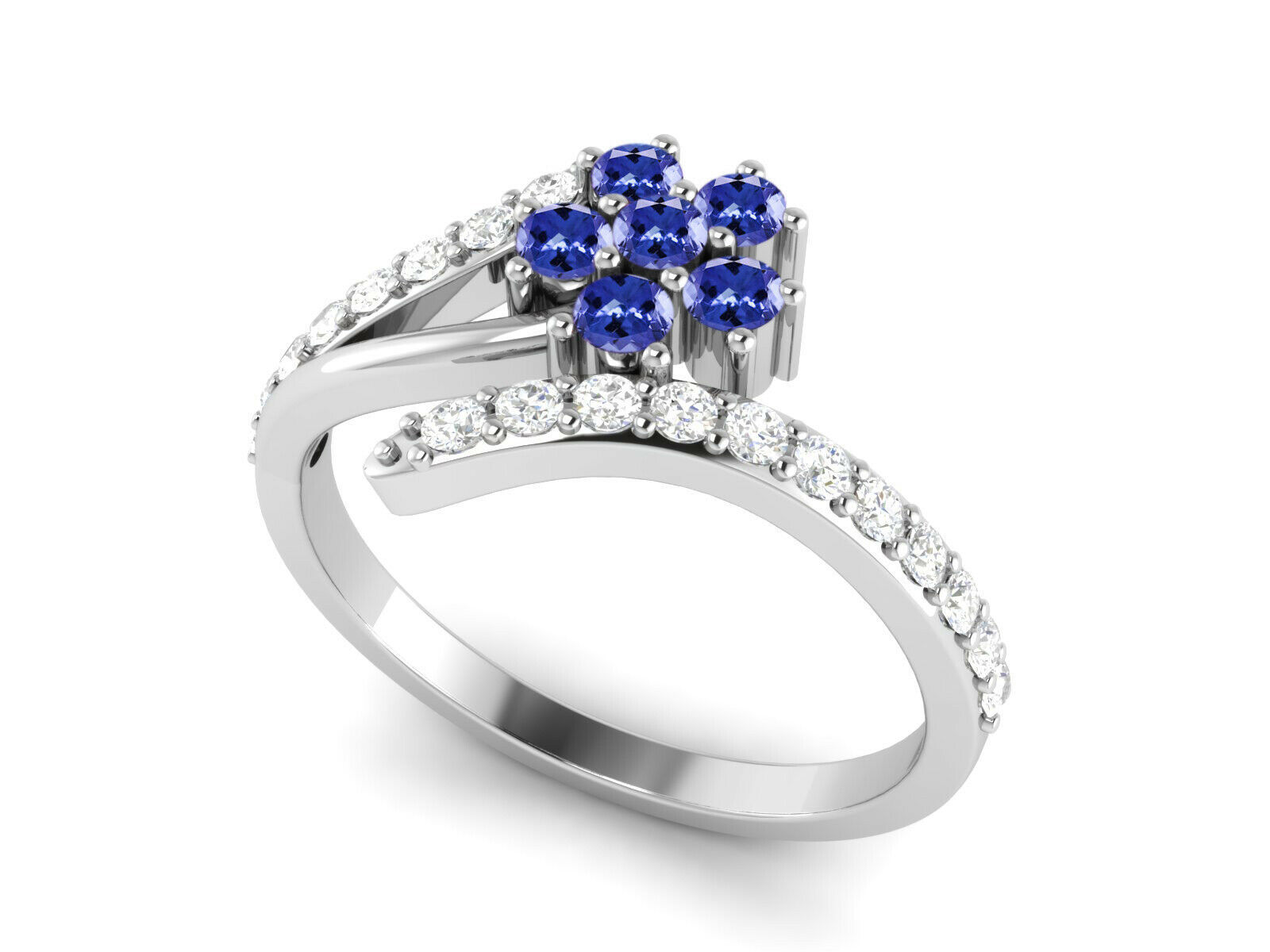 Primary image for 925 Sterling Silver 0.73 Ctw Tanzanite Gemstone Solitaire Accents Women Ring