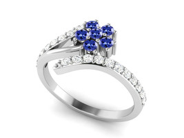 925 Sterling Silver 0.73 Ctw Tanzanite Gemstone Solitaire Accents Women ... - $23.47