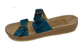Nine West Tick Tock women's sandals shoes slide leather upper size 7M - $19.58