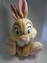 "Disney Store Genuine Original Miss Bunny Thumper Bambi Friend Soft Plush 10"" - $14.36"