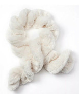 Girls Faux-Fur Twist Scarf, Solid Ruched Ivory, Oblong One Size - $12.20