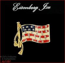 Signed Eisenberg American Patriotic Flag Pin (#J1101) - $28.00