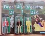 Set of 3 ReAction Figures Breaking Bad Heisenberg Walter White Jesse Pinkman New