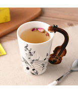 Coffee Cup Social Milk Tea Stave Cups With Handle Novelty Coffee Cup Gif... - $9.99