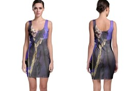 Bodycon Dress Purple Rain Sing A Song - $22.99+