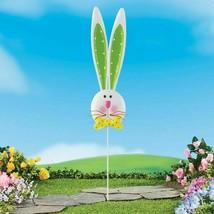 Long-Eared Easter Bunny Head Metal Garden Stake Yard Décor 3 Foot Tall G... - $26.72